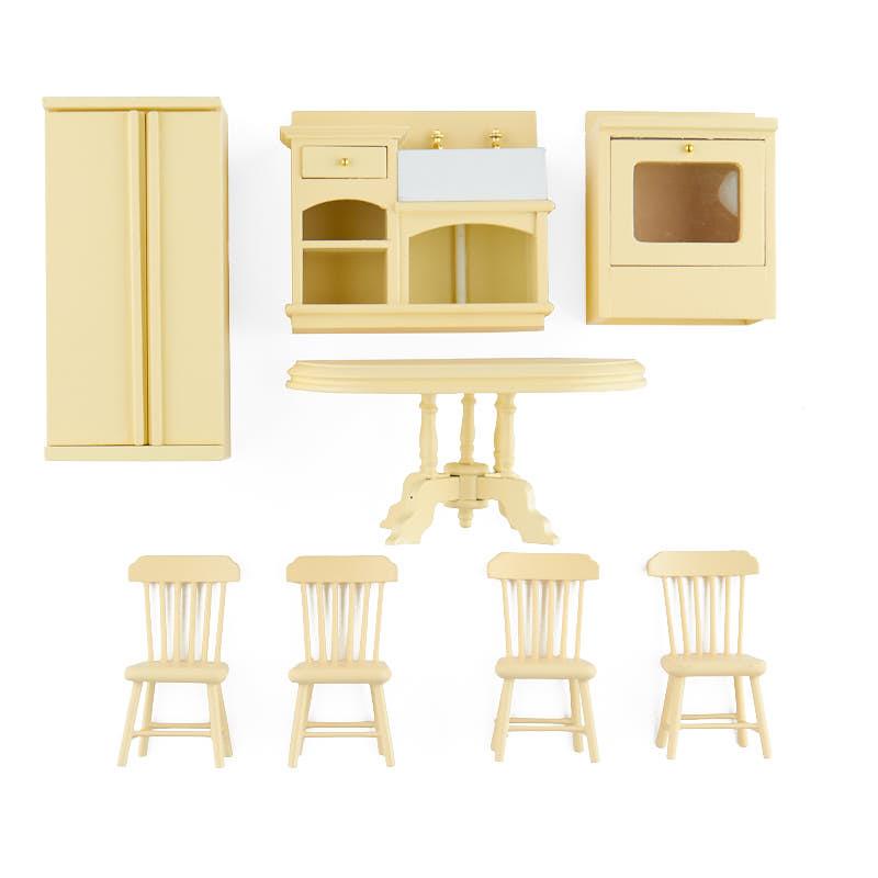 Dollhouse Miniature Complete Kitchen Set  Bedroom