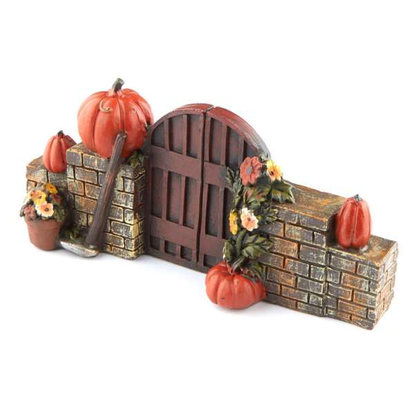 miniature fall pumpkin gate - fairy