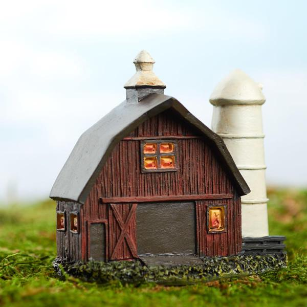 miniature fairy garden barn