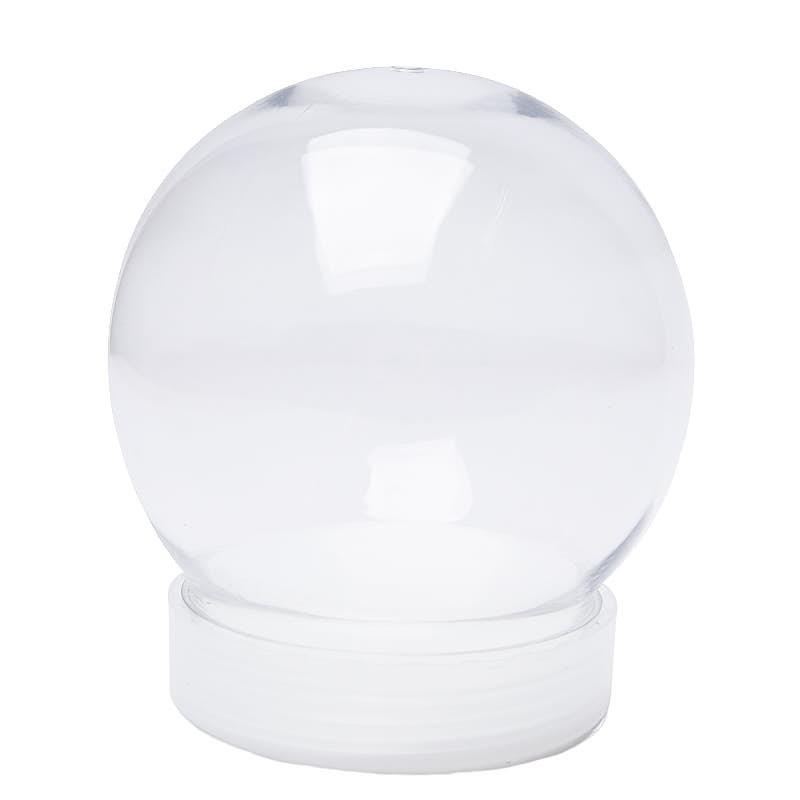 Clear Acrylic Snow Globe Jar Christmas Miniatures