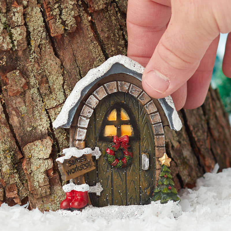 Miniature Christmas Santas Workshop Door Christmas