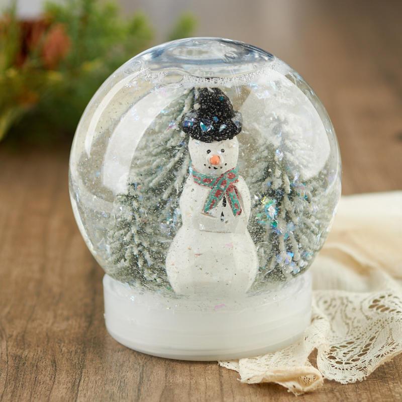 Clear Acrylic Snow Globe Jar Acrylic Fillable Ornaments