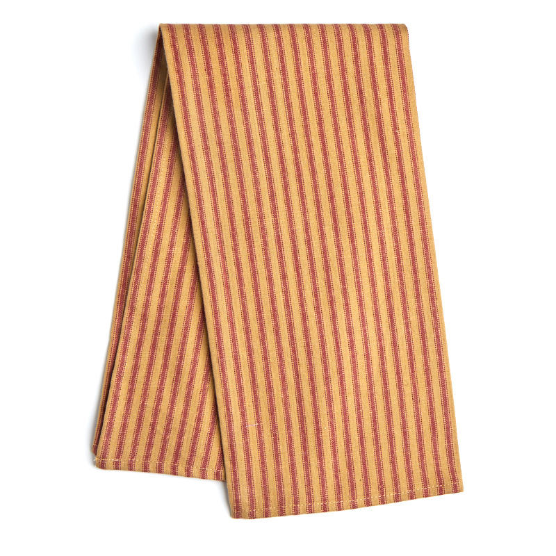 Primitive Red Pillow Ticking Dish Towel  Kitchen Towels