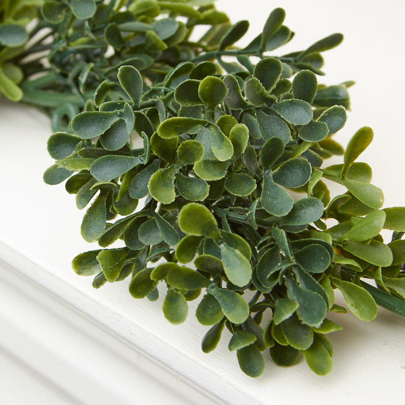 greenery above kitchen cabinets craftsman style artificial boxwood garland - floral ...