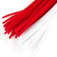 Extra Long White and Red Pipe Cleaners - Pipe Cleaners ...