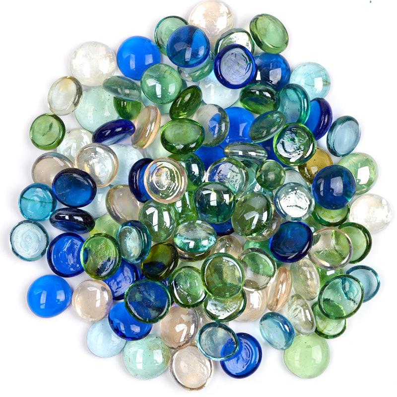 Assorted Flat Glass Gems  New Items