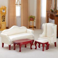 Queen Anne Living Room Sets Striped Chair Dollhouse Miniature Ivory Set Item 03160 Other
