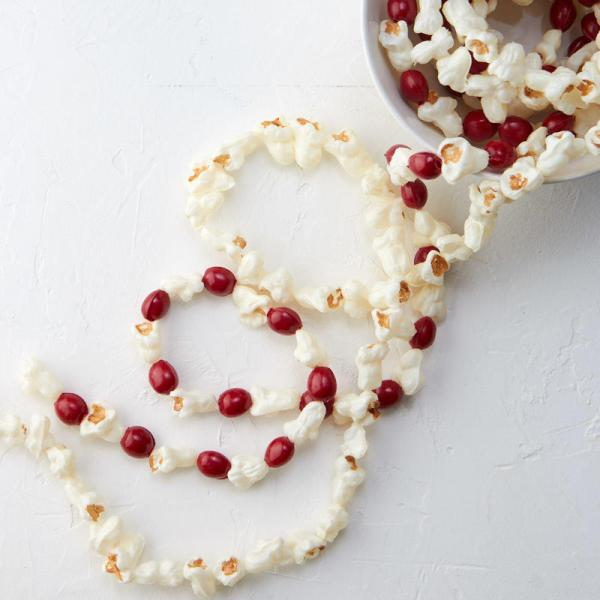 Faux Popcorn And Cranberry Garland Set - Christmas