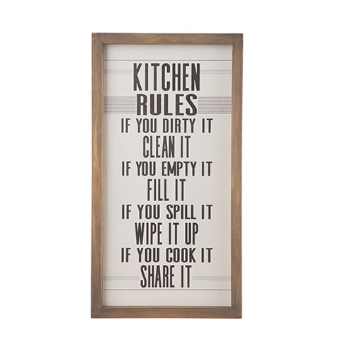 Rustic Kitchen Rules Sign  Whats New  Primitive