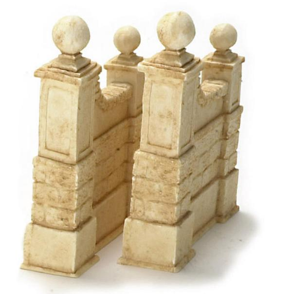 dollhouse miniature stone walls