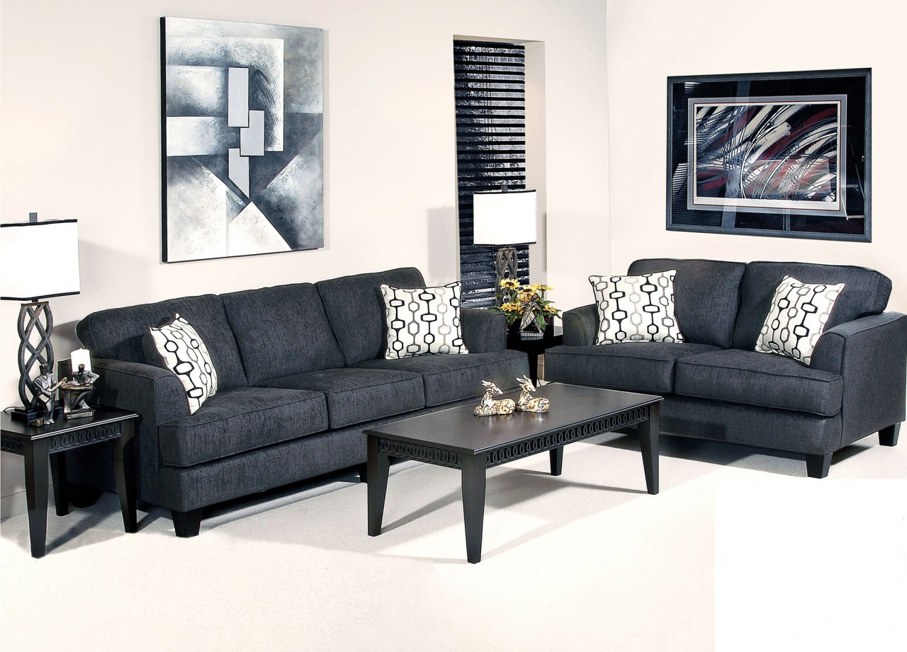 black microfiber sofa set tufted leather cheap stationary and love seat sets factory direct furniture 4u