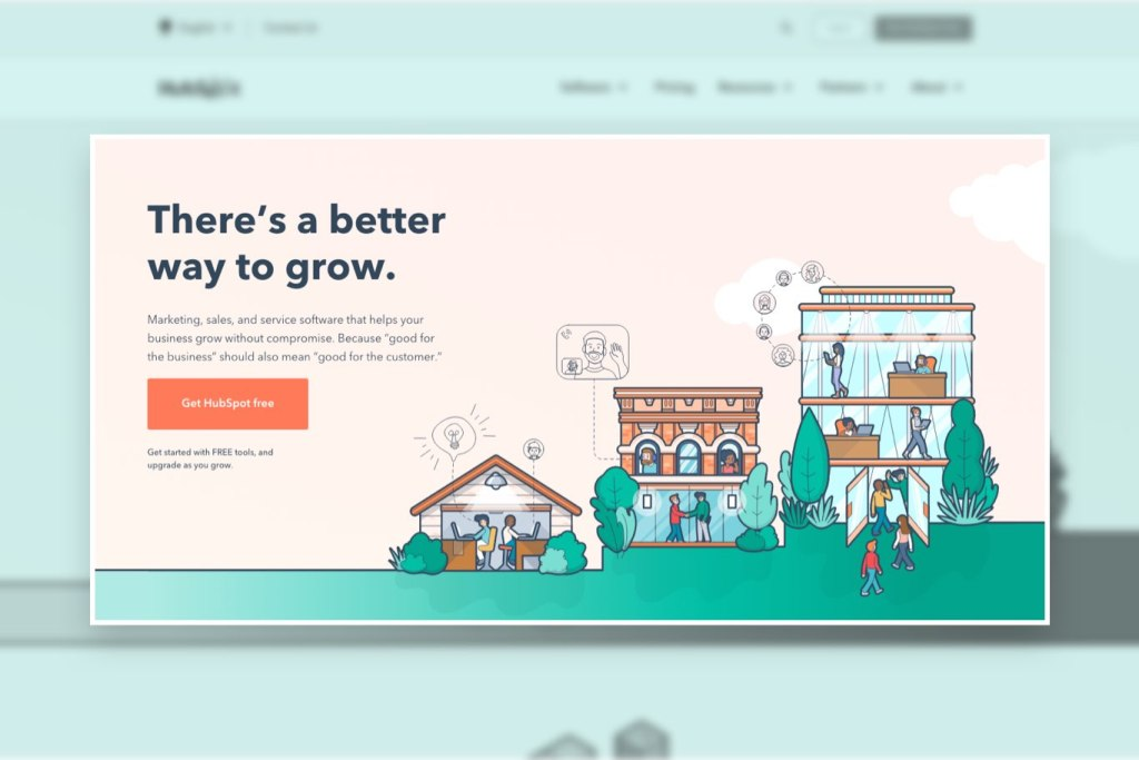 HubSpot home hero page