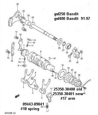 Suzuki GSF250 fuel screw carb Factory Pro 415 491 5920