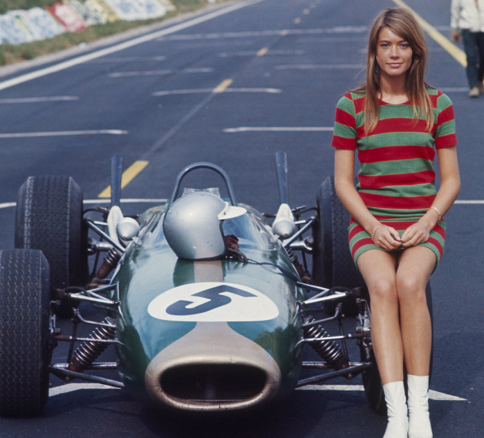 Francoise Hardy Playing In The Film 'Grand Prix'