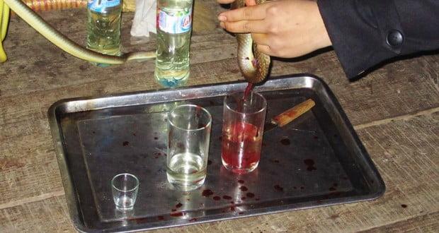 Cobra blood wine