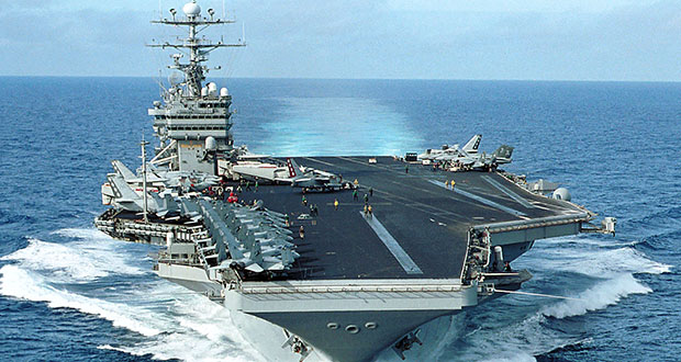 Nuclear powered aircraft carrier