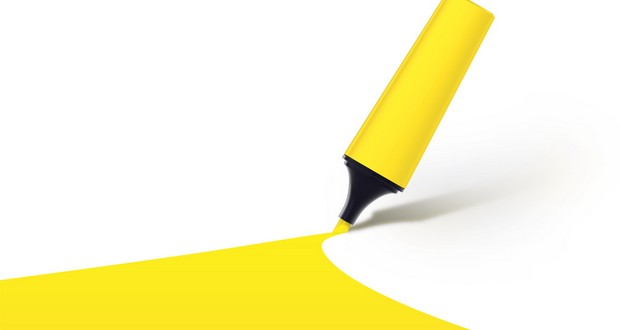Yellow highlighter color