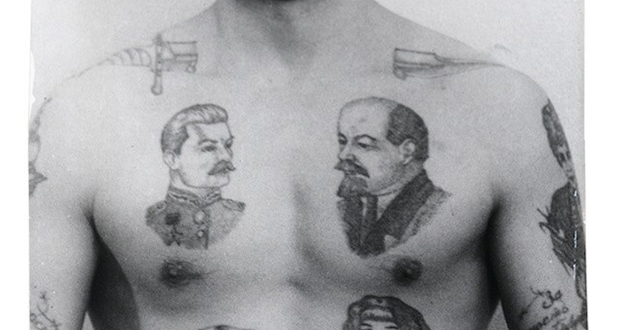 Lenin and Stalin tattoos