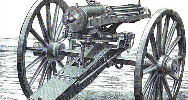 Gatling gun   Fact# 2975   FactRepublic.com Minigun Bullet Wound