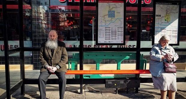 Fake bus stops