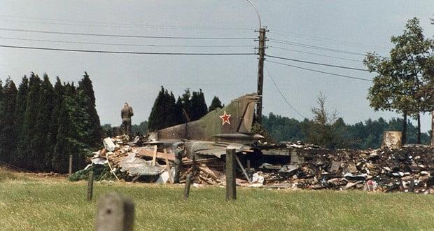 Belgian MiG-23 crash