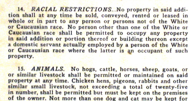 Racial restrictive covenants