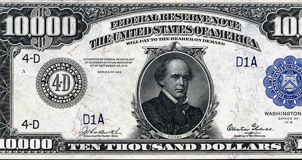 $10,000 bills