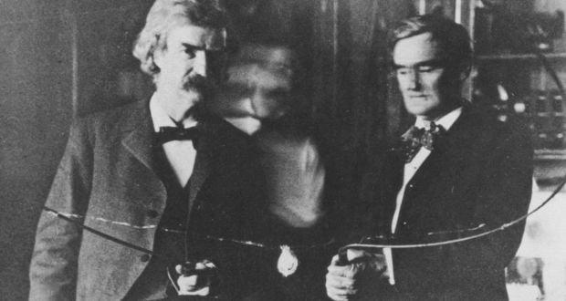 Mark Twain and Nikola Tesla