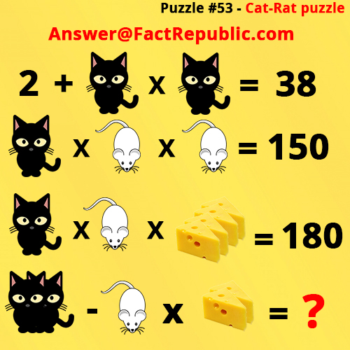 Puzzle 53 - Cat-Rat Puzzle Answer, Cat Rat Cheese Whatsapp Puzzle