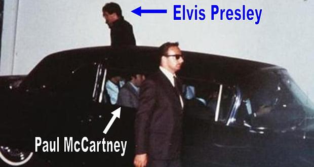 When Elvis and the Beatles met