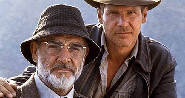 Sean Connery and Harrison Ford