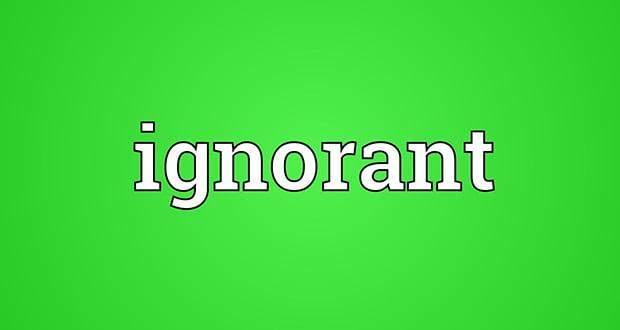 Ignorant word