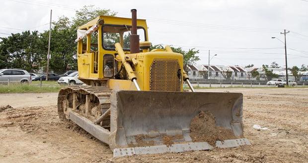 Armored bulldozer