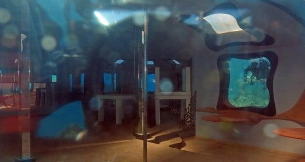 Underwater strip club