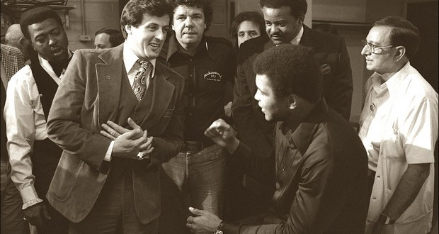 Sylvester Stallone and Earnie Shavers