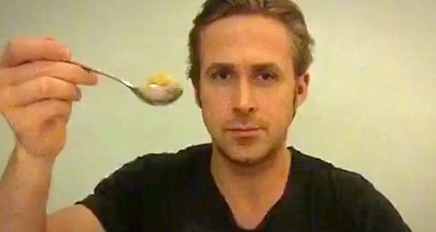 Ryan Gosling Won't Eat His Cereal