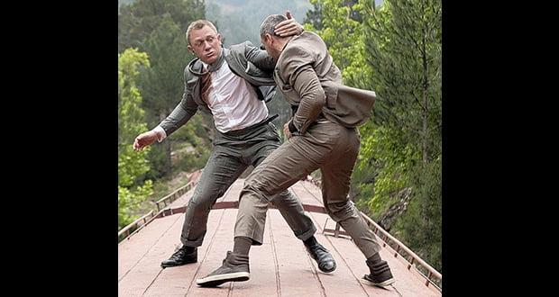 Fighting scene on train