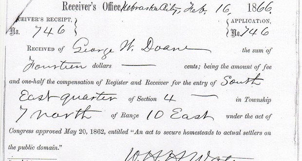 1866 Homestead Act