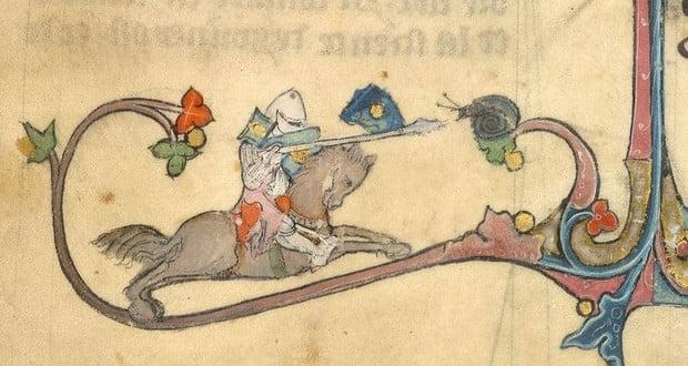 Knights v giant snails