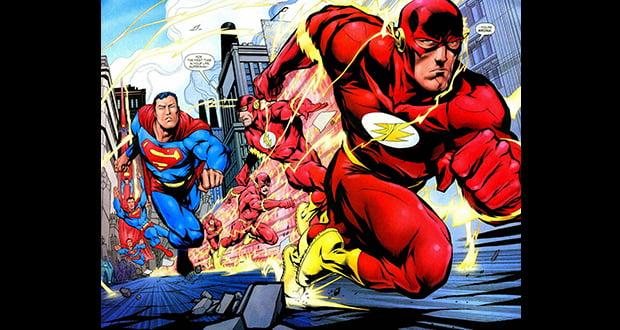 Flash raced Superman