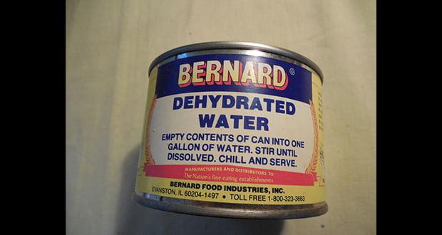 Bernard Dehydrated Water