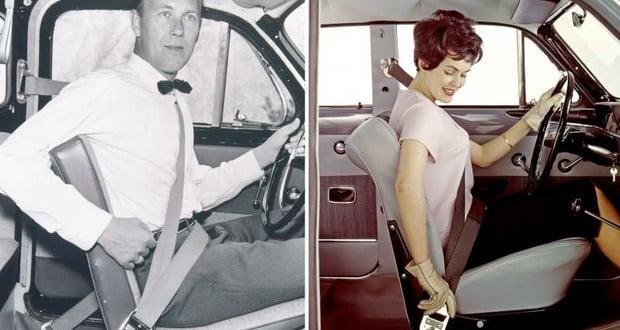Volvo three-point seatbelt