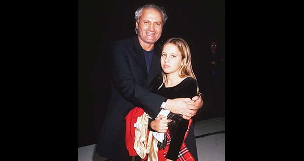 Gianni and Allegra Versace