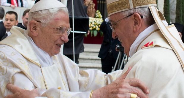 Pope Francis and Pope John Paul the Second