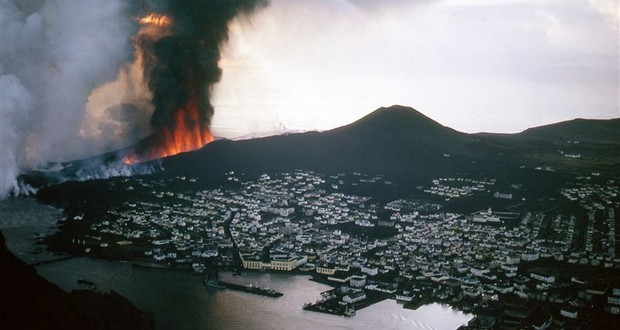 1973 Heimaey volcano eruption