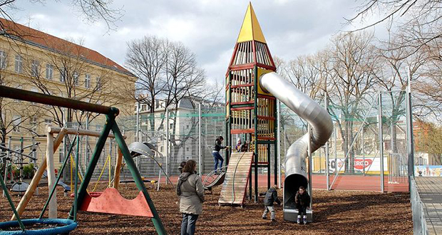 Cold War playground equipment