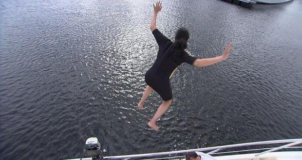 Cruise ship fall
