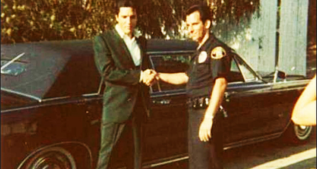 Elvis Presley and Limo driver