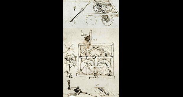 Leonardo da Vinci three-wheeled vehicle