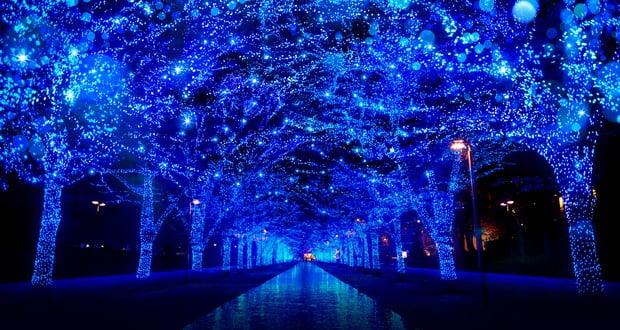 Tokyo blue LED lights
